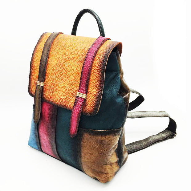 Casual Vintage Leather Travel Fashion Backpack