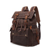 Casual Wax Canvas Traveling Backpack
