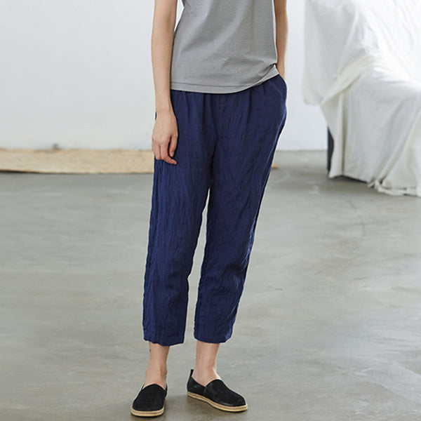 Casual Wild Loose Solid Color Turnip Pants