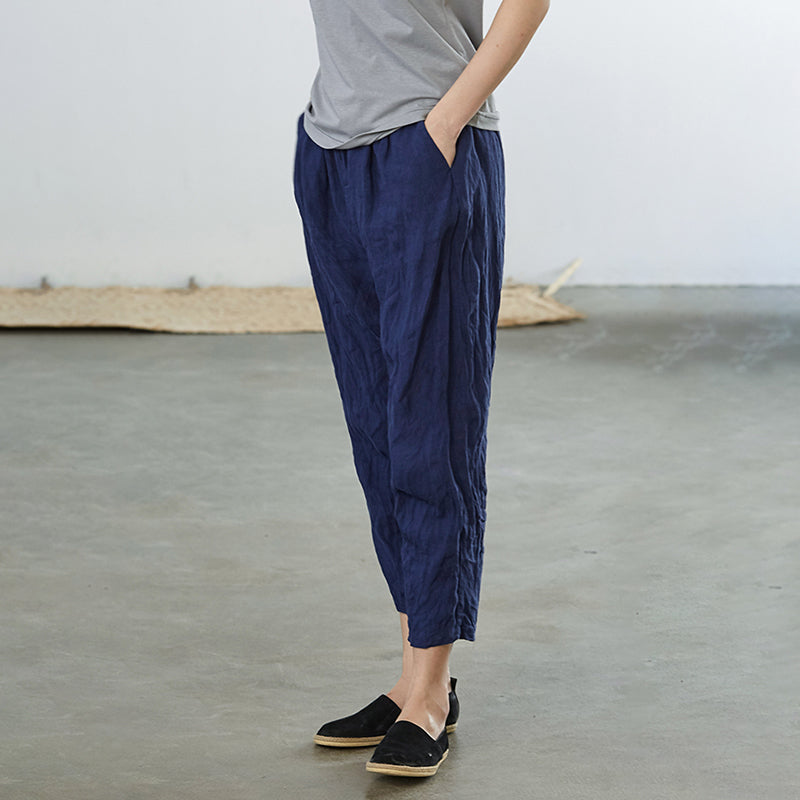 Casual Wild Loose Solid Color Harem Pants