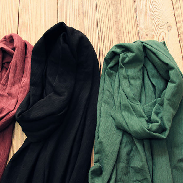 Casual Wild Travel Solid Color Cotton Scarf