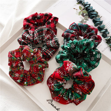 Christmas Snowflake Women Hair Rope(2 Pieces)