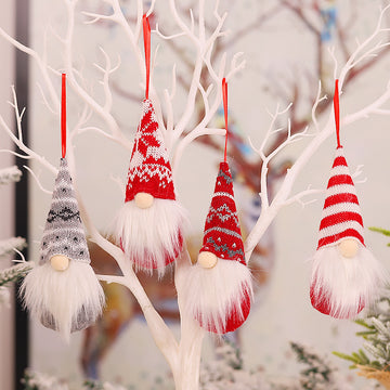 Christmas Tree Hanging Ornament Doll(4 Pieces)