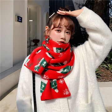 Christmas Women Knitted Warm Scarf