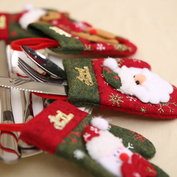 Christmas Glove Decoration for Knife And Fork