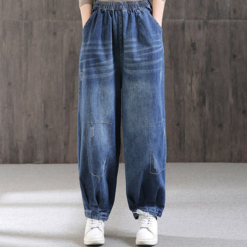 Classic High Waist Retro Jeans for Women