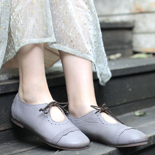 Classic Women Lacing Retro British style Shoes