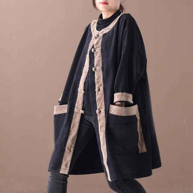 Color Matching Comfortable Loose Trench Coat