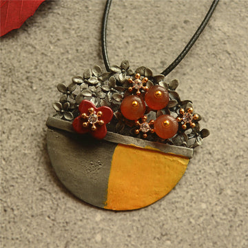 Color Matching Flower Necklace