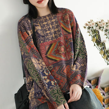 Colored Printed Soft Comfortable Thermal Sweater