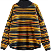 Coloured Thread Casual Loose Sweater