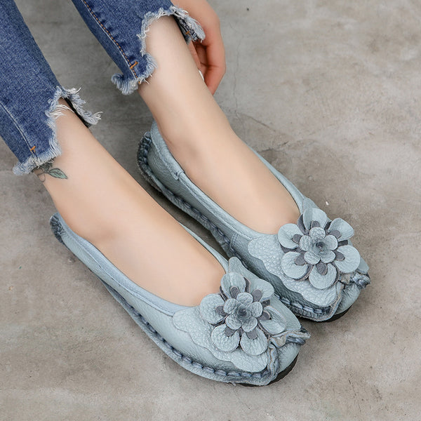 Comfortable Retro Flower Handwork Single Shoes