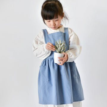 Cotton Linen Kitchen Baking Children's Apron