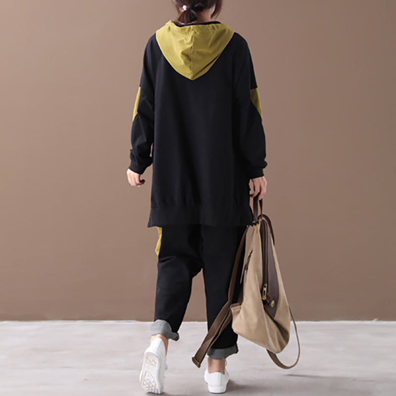 Cotton Casual Women Loose Autumn Suit