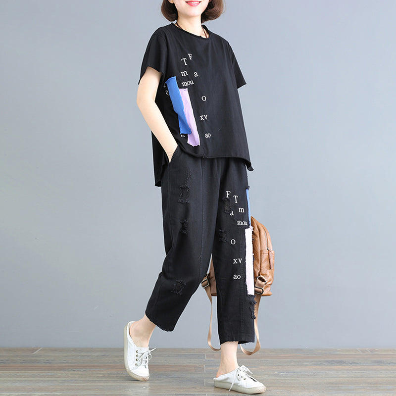 df5d3dab18782 Cotton Patch Designs Embroidery Blouse And Pants - BUYKUD