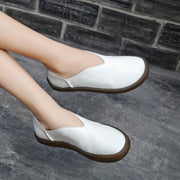 Cow Leather Classic Casual Flat Shoes
