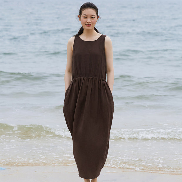 Customized Solid Color Spliced Elegant Maxi Dress