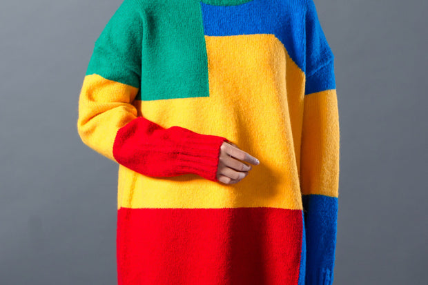 Female Pullover Women Colorful Sweater