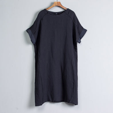 Summer Black Short Sleeve Casual Dress