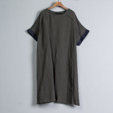 Summer Gray Short Sleeve Casual Dress