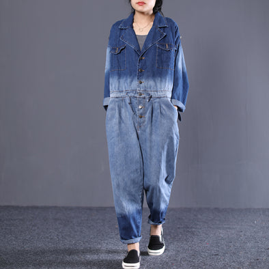 Denim Women Fashion BF Style Jumpsuit