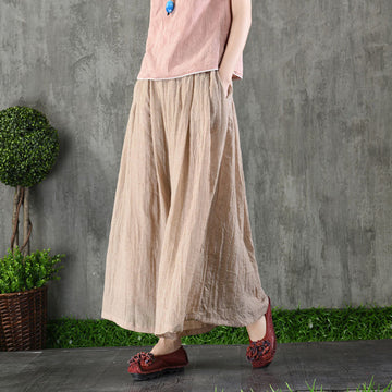 Elegant Solid Color Thin Wide Leg Pants