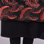 Embroidered Feather Splicing Knitted Dress