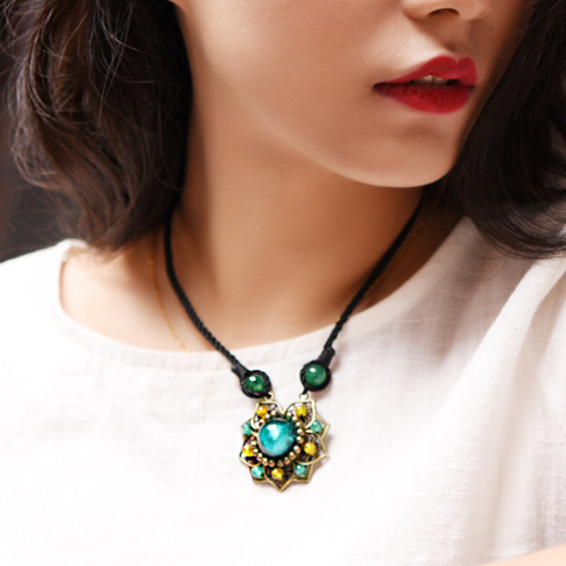 Ethnic Style Coloured Glaze Women Necklace