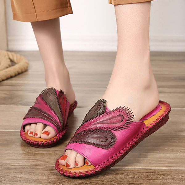 Ethnic Style Flat Bottom Casual Beach Slippers
