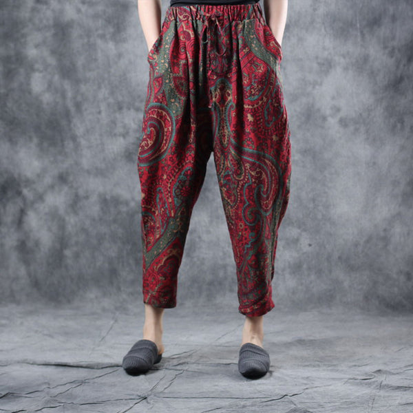 Ethnic Style Printed Summer Harem Pants