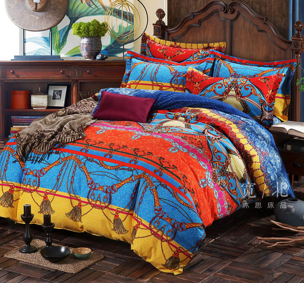 Ethnic Style Pure Cotton Print Bedding Set