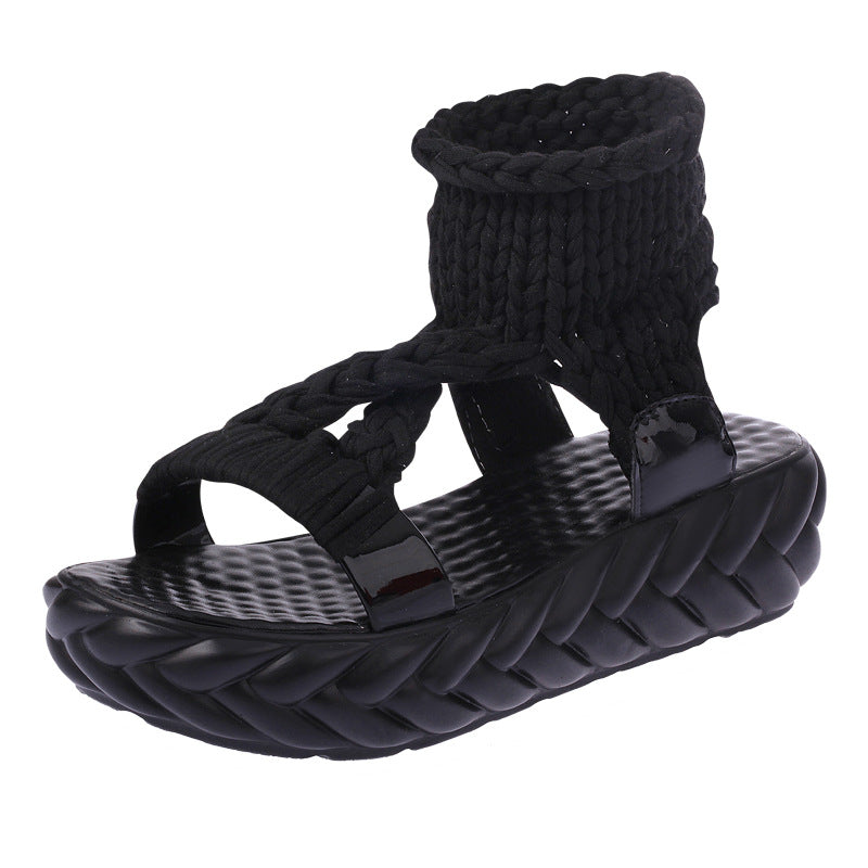 Fashion Hollow Out Knitted Sandals