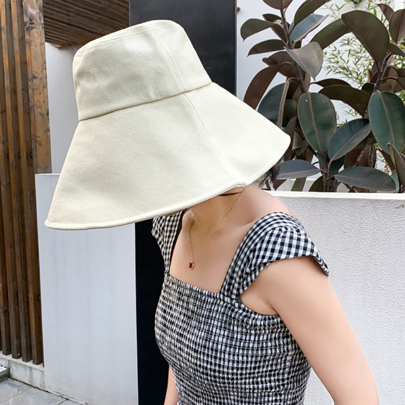 Fashion Pure Color Double-sided Cotton Fisherman Hat