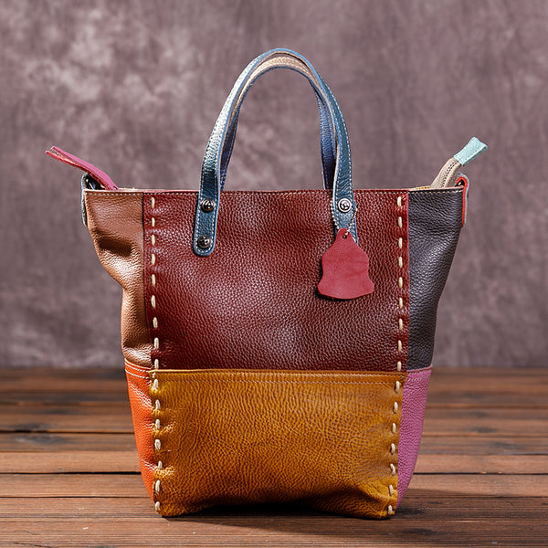 Fashion Casual Color Matching Trapeze Bag