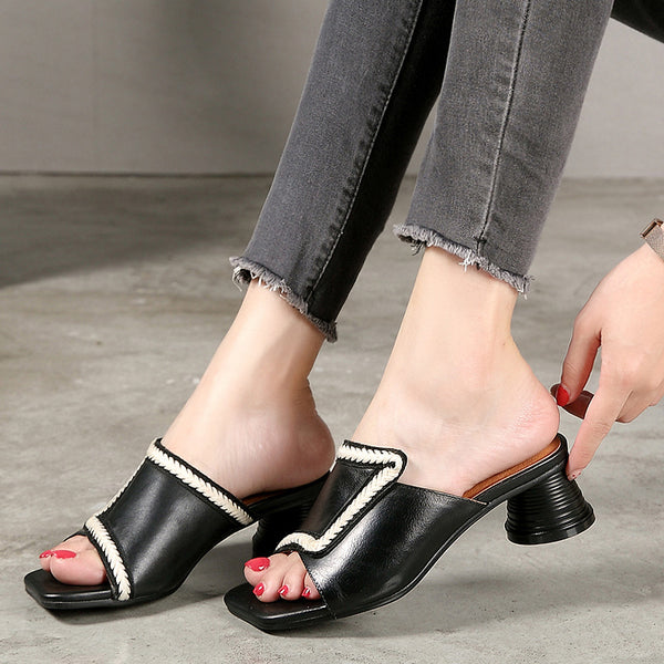 Fashion Casual Leather Sewing Women Sandals