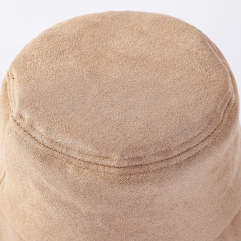 Fashionable Thick Warm Suede Bucket Hat