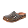 Featured Ethnic Style Button Leather Slippers