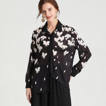 Female Commute Casual Flower Shirt
