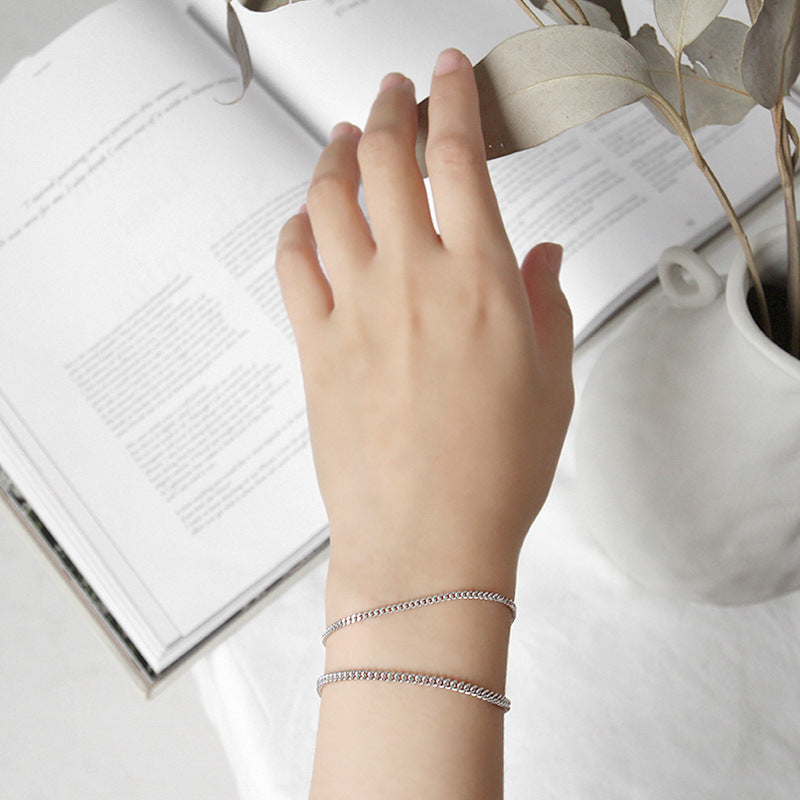 Female Fashion Simple Silver Bracelet