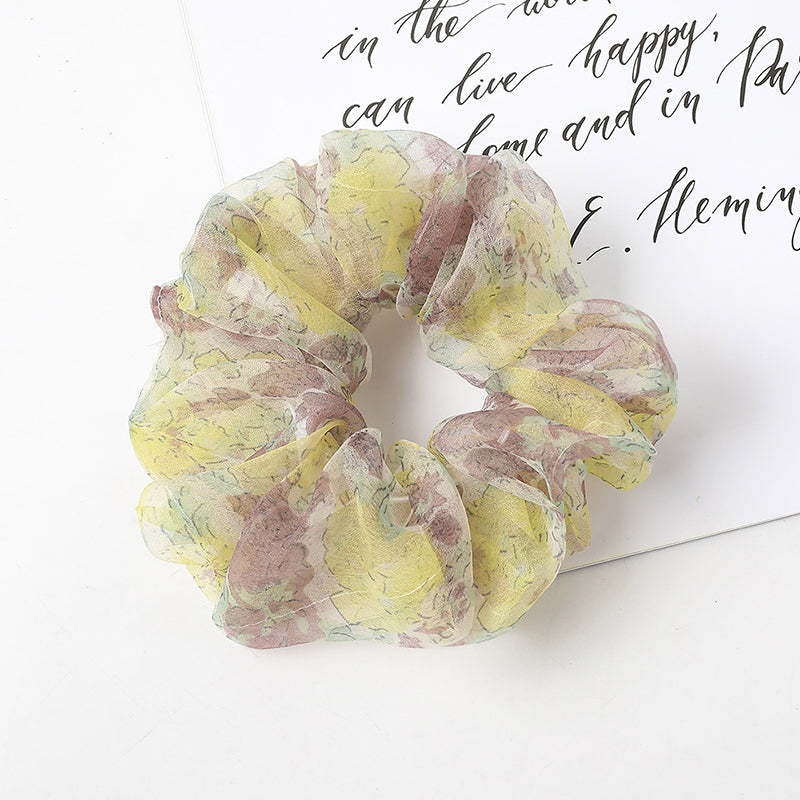 Female Floral Elastic Hair Rope(5/6 Pieces)