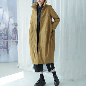 Female Zipper Winter Large Size Solid Cotton Coat