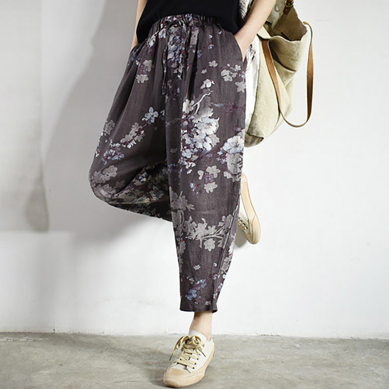 Floral Casual Harem Pants For Women