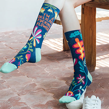 Flower Printed Cute Sweet Socks - 2 Pairs