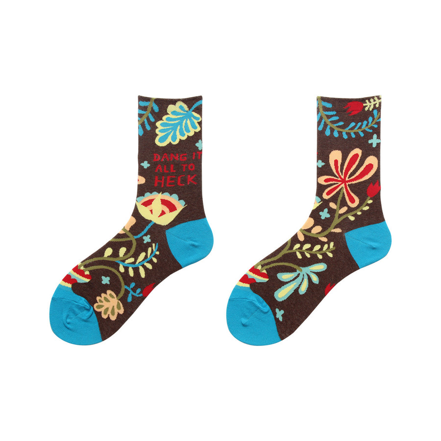 Flower Printed Cute Sweet Socks - 3 Pairs
