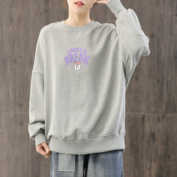 Frayed Distressed Cartoon Casual Sweatshirt