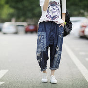 Frayed Pattern Personality Casual Loose Jeans