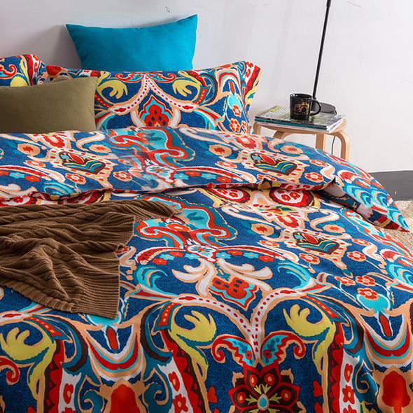 Geometric Pattern Ethnic Style Cotton Bedding Set