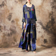 Ethnic Style Irregular Hem T-Shirt And Pants
