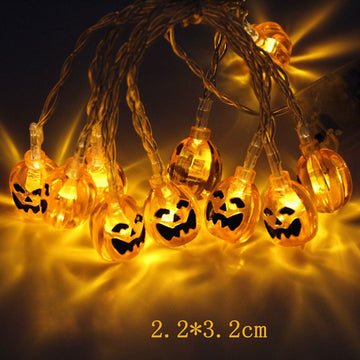Halloween Ghost Skull Pumpkin Light String Decor