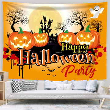 Halloween Pumpkin Background Hanging Cloth